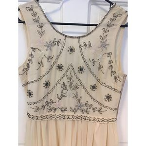 Flowy, maxi, embroidery beads ASOS dress